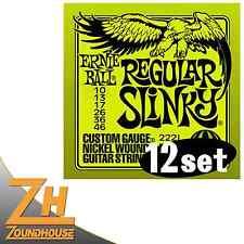 "12 x Ernie Ball 2221 Regular Slinky Satz 010""-046"