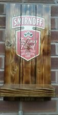 Smirnoff vodka plaque wooden sign with shelf gift mancave shed bar pub