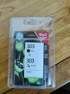 Genuine HP 303 Colour and Black ink combi pack