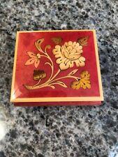 Sorrento Intarsio Inlaid Wood Jewelry Box Swiss Music Movement Lara's Theme