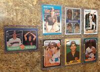 (7) Benito Santiago 1986 1987 Donruss Fleer Topps Sportflics Rookie Card lot RC