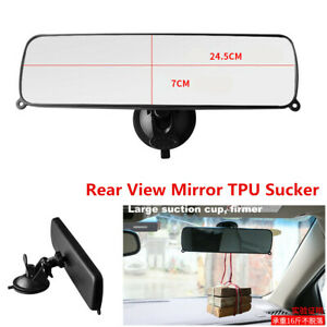 Anti-glare Car Interior Rear View Mirror Wide Clear Lens Suction Cup Accessories