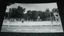 New listing RPPC- Walther League Camp, Volleyball, Basketball, Milford Iowa Vintage Postcard