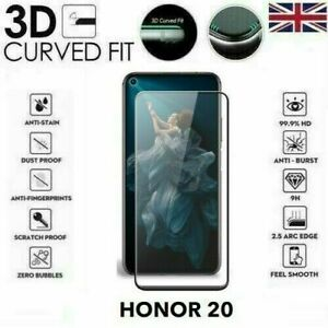 For Huawei Honor 20/20 Pro(2019) Black Full 3D Tempered Glass Screen Protector