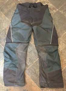 Klim CorDura Scotchlite Reflective Motorcycle Pants, Green/Black, 38