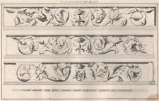 Italian carving, Kings College Chapel, Cambridge; drawn by Louis Blackburne 1873
