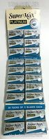 100 SUPER MAX PLATINUM DOUBLE EDGE SHAVING RAZOR BLADES BARBER SHAVE - NEW