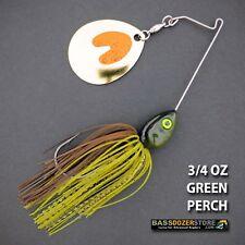 Bassdozer spinnerbaits SHORT ARM THUMPER 3/4 oz GREEN PERCH spinner bait lures