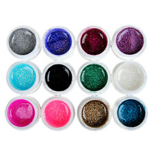 12 Pcs Mix Color Glitter UV Builder Gel Set for Nail Art False French Tips Kit