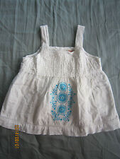 Poney Girl White Sleeveless Top/Blouse (3-4yo) 1pcs