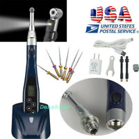 Wireless Dental Endo Motor Root Canal 16:1 Reduction LED Contra Angle Handpiece