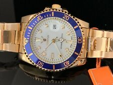 Men's Quartz Watch Date Rotating Bezel 40mm New