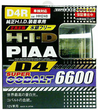 PIAA 19996 D4R Super Cobalt Light HID Bulbs OEM Xenon Head Lamp Replacement Pair