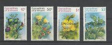 ST VINCENT GRENADINES 1982  Prickley Pear Cactus  umm / mnh Overprinted Speciman