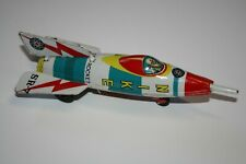 SPACE ROCKET FRICTION TINPLATE NIKE SR-7 MADE IN JAPAN BY MASUYA TOY 1960s.
