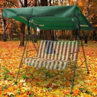 "76 3/8"" x 44 1/8"" Swing Canopy Cover Replacement UV30+ Outdoor Garden Patio Top"