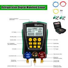 Digital Refrigeration Manifold Gauge Meter Hvac Vacuum Pressure Temp Tester Tool