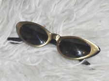 1960's Vintage Capistrano American Optical True Tone Gold Cat Eyed Metallic Glas