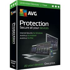 NIB! AVG Protection 2016 Unlimited Devices / 1 Year - Free Upgrade to 2017