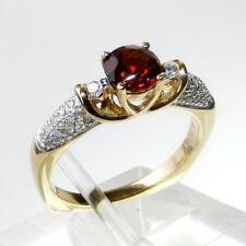 NEU natürlicher Spessartite Garnet Granat Diamant Ring 1.60 ct 585er Gold Orange