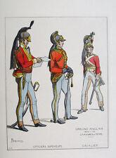 Napoleonische Kriege England Dragoner Raupenhelm Säbel Offizier Wellington