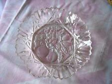 Vintage Large Crimped and Folded Edge Elegant Crystal Glass Serving Bowl, 11""