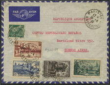 PARIS, FRANCE TO BUENOS AIRES, ARGENTINA AIRMAIL COVER 1939 BL1618