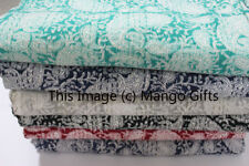 Handmade Indian Kantha Quilts Vintage Throws Paisley Bed Cover Wholesale Lot 4Pc