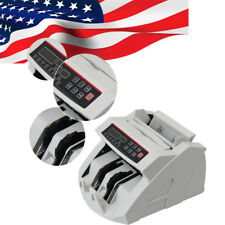 Money Bill Counter Counting Machine Counterfeit Detector UV MG Cash LED Accurate