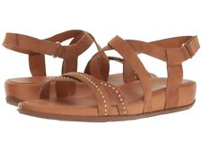 NEW FITFLOP Sz9US LUMY CRISSCROSS W/STUDS ANKLE STRAPS SANDALS SUEDE LEATHER TAN