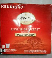 Twinings Of London Decaffeinated English Breakfast Tea K-Cups For Keurig, 18 Ct