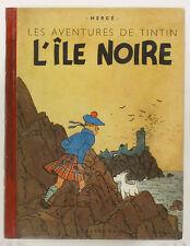 L'île Noire. Les Aventures de Tintin. HERGE. A18, 1942. TBE- Noir & Blanc.