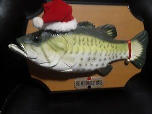 Big Mouth Billy Bass Christmas Holidays Santa Hat Singing Fish 1999 Gemmy