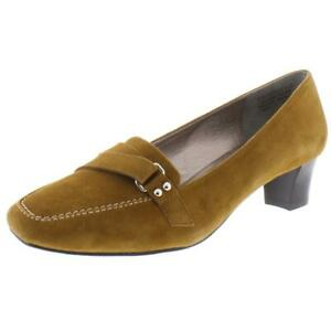 Array Womens Darcy Brown Suede Dressy Loafers Shoes 9 Narrow (AA,N)  3430