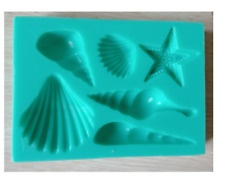 Sea Shell Silicone Cake Mould Starfish Cake Topper Chocolate Decorating Tool