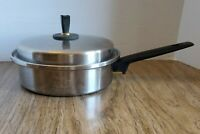Vintage Magic Maid waterless stainless Cookware Pot saucepan/skillet USA 1.5 qt