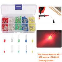 825 PCS 17 values Resistor Assortment Kit W/ 2pin LED Light Emitting Diodes 1/4W
