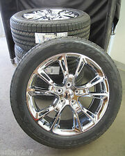 """20"""" NEW JEEP GRAND CHEROKEE SRT8 STYLE CHROME SET OF WHEELS WITH TIRES 9113"""