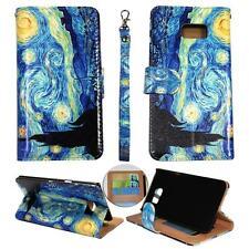 For Samsung Galaxy S6 Edg Plus Ck Wallet Blue Design Cover Case Un