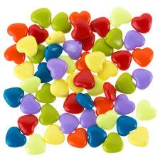 F106//1 Acrílico granos de poni Opaco Forma de Corazón Multicolor PK50