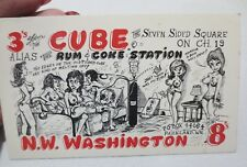 RARE CB Ham Radio QSL Post Card by Viking #705 late 60's early 70's