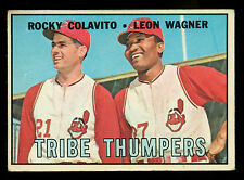 1967 TOPPS OPC O PEE CHEE 109 TRIBE THUMPERS ROCKY COLAVITO LEON WAGNER INDIANS