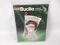 "Bucilla Counted Cross Stitch Kit Christmas Stocking #82258 Santa Portrait 18"""