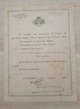 Congo Belge Brevet Force Publique Médaille Africaine 1940-1945 ruban surchargé