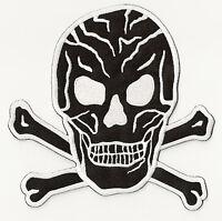 Patch dorsal écusson grand patche Black Skull Tête de Mort thermocollant