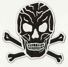 patch dorsal embroidered iron-on patch patch Black Skull