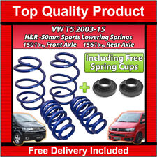 VW T5 TRANSPORTER CARAVELLE 2003-2015 H&R LOWERING SPORTS SPRINGS 50MM KIT-4
