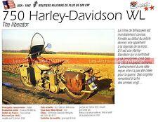 HARLEY DAVIDSON WL 750 ( WLA WLC WW2 ) 1942 Fiche Moto 000176