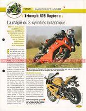 TRIUMPH 675 Daytona 2006 Joe Bar Team Fiche Moto #007677