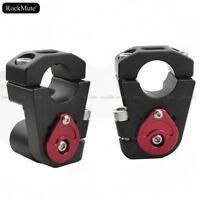 "Universal Motorcycle Adjustable 1""/28mm Handlebar Riser Bar Clamp Extend Adapter"
